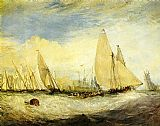 Joseph Mallord William Turner the Regatta beating to windward painting