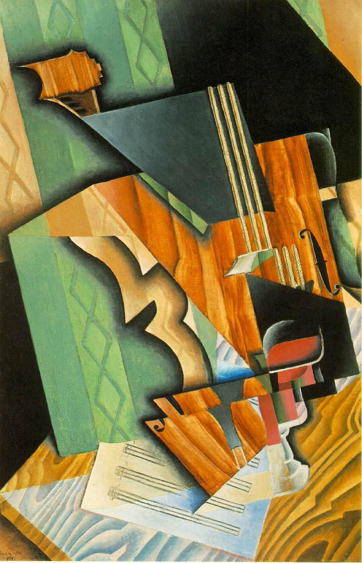 Juan Gris Violin and Glass