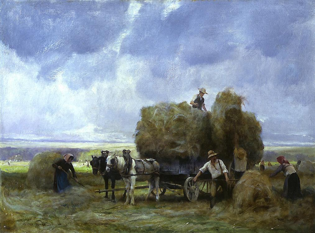 Julien Dupre Harvesters Loading the Cart