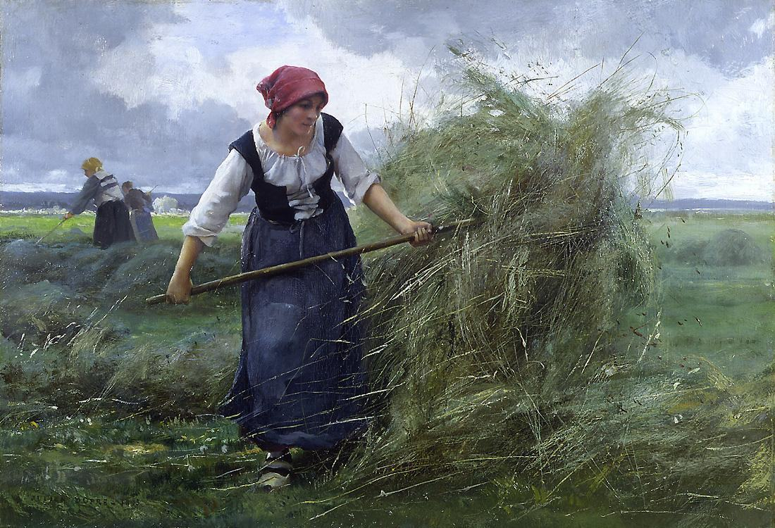Julien Dupre The Wheatfield