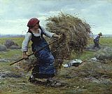 Julien Dupre Harvest Time painting