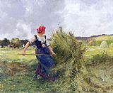 Julien Dupre Haymaking painting