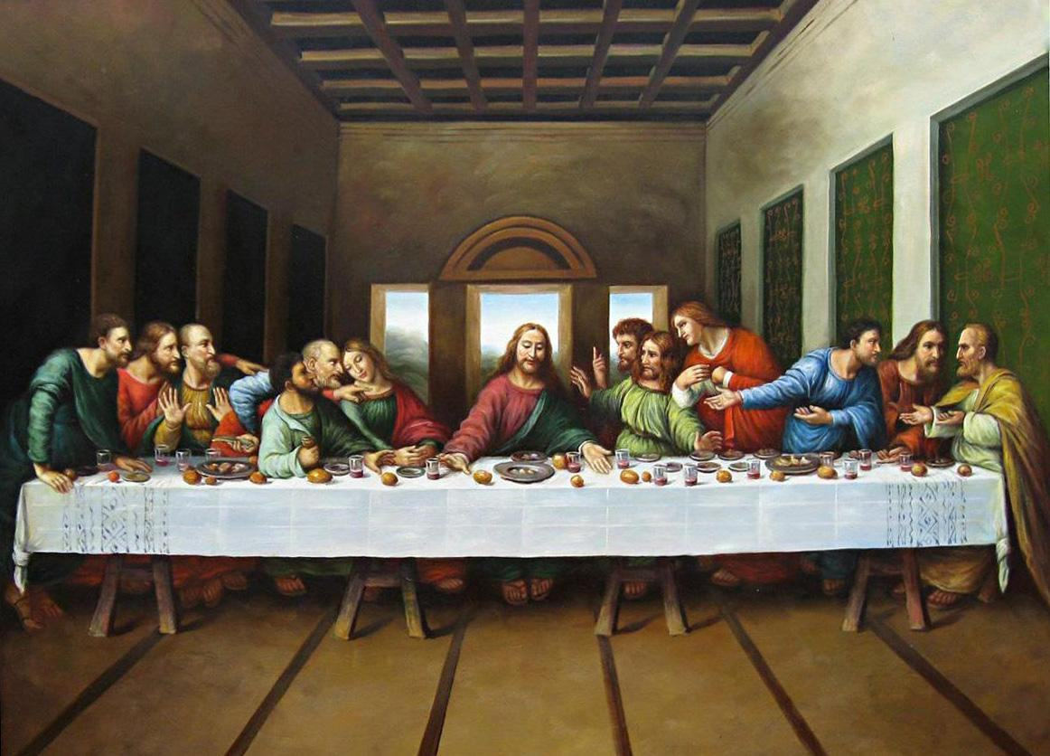 Leonardo da Vinci original picture of the last supper