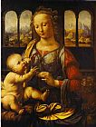 Leonardo da Vinci Madonna With The Carnation painting