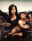wind Canvas Paintings - Madonna with Yarnwinder