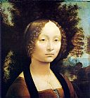 portrait Canvas Paintings - Portrait of Ginevra de Benci