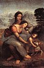 Leonardo da Vinci The Virgin and Child With St Anne painting