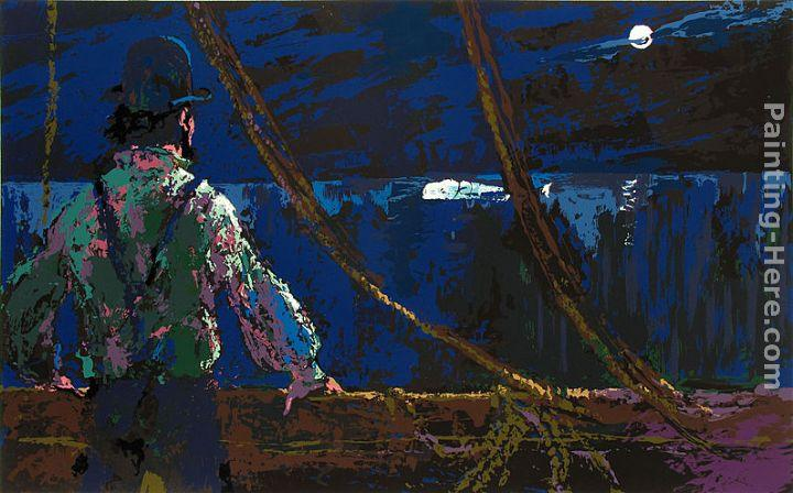 Leroy Neiman Ahab at the Night Watch Moby Dick Suite