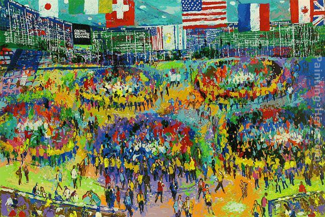Leroy Neiman The Chicago Mercantile Exchange