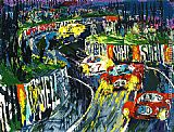 Leroy Neiman 24 Hours at LeMans painting