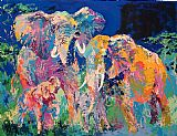 Famous Family Paintings - Elephant Family