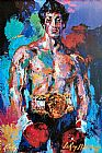 Leroy Neiman Famous Paintings - Rocky Balboa