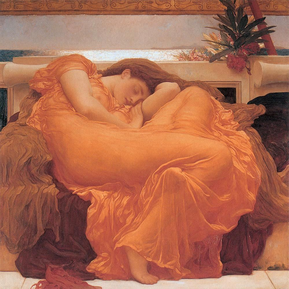 Lord Frederick Leighton Leighton Flaming June