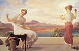 Lord Frederick Leighton - Leighton Winding the Skein