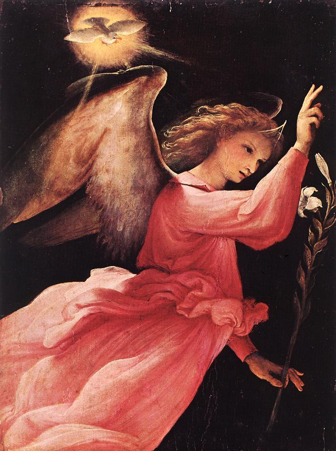 Lorenzo Lotto Angel Annunciating