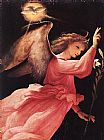 angel Canvas Paintings - Angel Annunciating