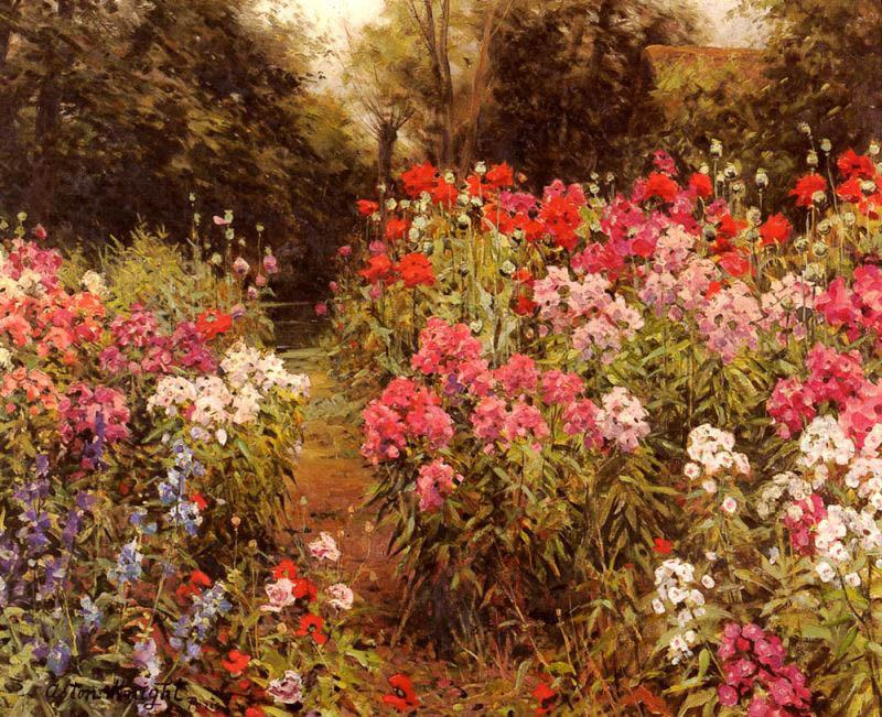 Louis Aston Knight A Flower Garden