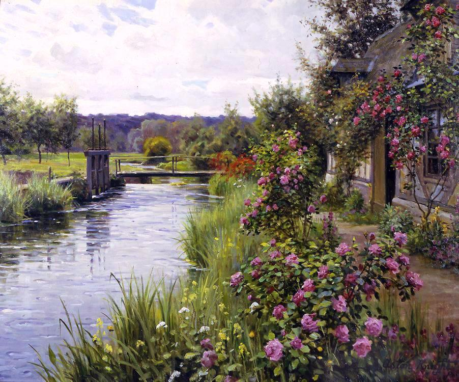Louis Aston Knight flowers in bloom
