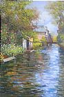 Louis Aston Knight River bank painting