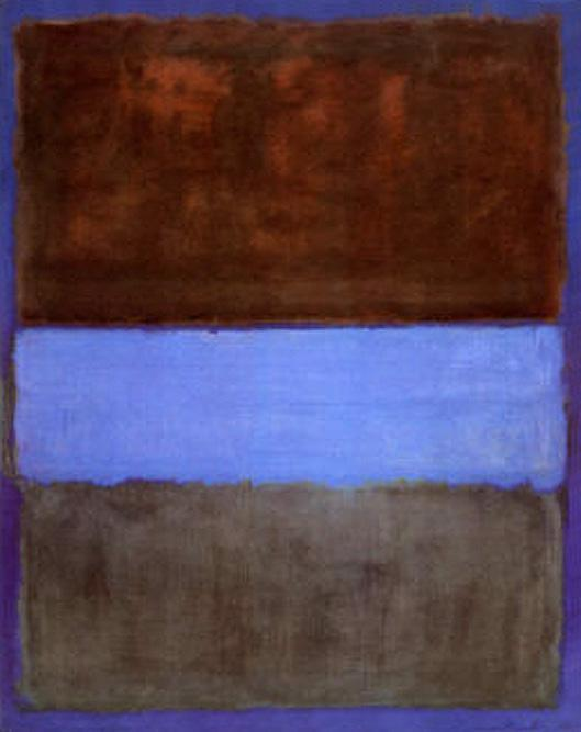 Mark Rothko No 61 Brown Blue Brown on Blue c1953
