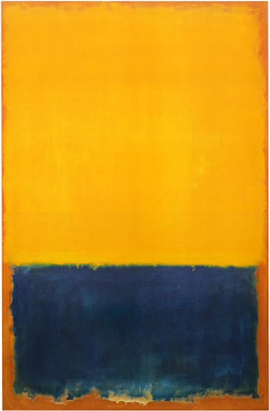 Mark Rothko Yellow and Blue2