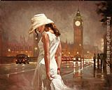 Mark Spain an evening in london painting