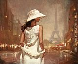 Mark Spain an evening in paris painting