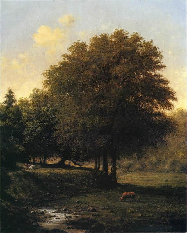 Martin Johnson Heade Cows in a Landscape