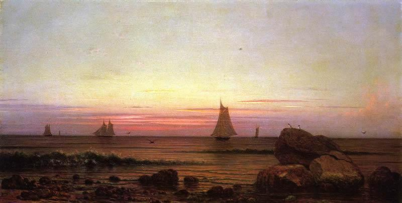 Martin Johnson Heade Sailing off the Coast