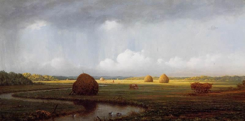 Martin Johnson Heade Sudden Shower, Newbury Marshes