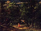Martin Johnson Heade The Swing, Children in the Woods painting