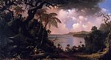 Martin Johnson Heade Wall Art - View from Fern-Tree Walk Jamaica