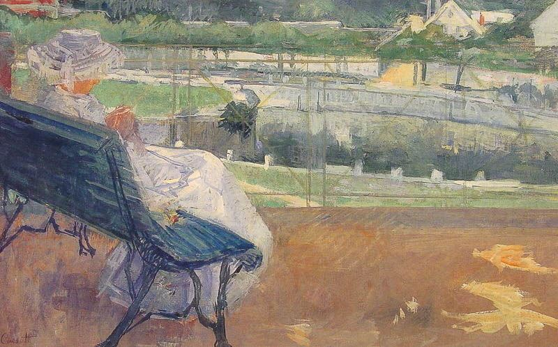Mary Cassatt Lydia Seated On A Terrace Crocheting