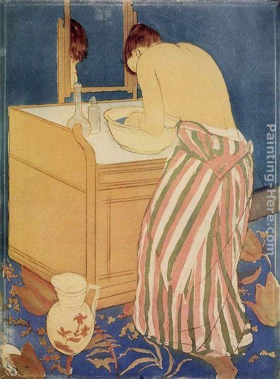 Mary Cassatt Woman Bathing