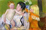 Mary Cassatt Canvas Paintings - After The Bath