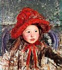 Little Girl In A Large Red Hat