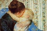 Mother Canvas Paintings - Mother And Child 7