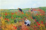 Mary Cassatt Wall Art - Poppies
