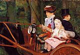 Mary Cassatt Wall Art - Woman And Child Driving