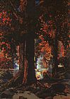 Maxfield Parrish Golden Hours painting