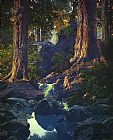 Maxfield Parrish The Glen painting