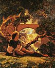 Maxfield Parrish The Knave painting