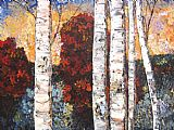 Maya Eventov Canvas Paintings - Birch Paradise