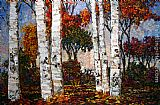 rio Canvas Paintings - Glorious Day in the Birches