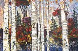 Famous Lake Paintings - Lake of Birches II