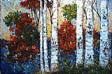 Maya Eventov Famous Paintings - Wild Birches