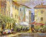 Michael Longo Courtyard Cafe painting