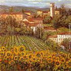 villa Wall Art - Provencal Village IV