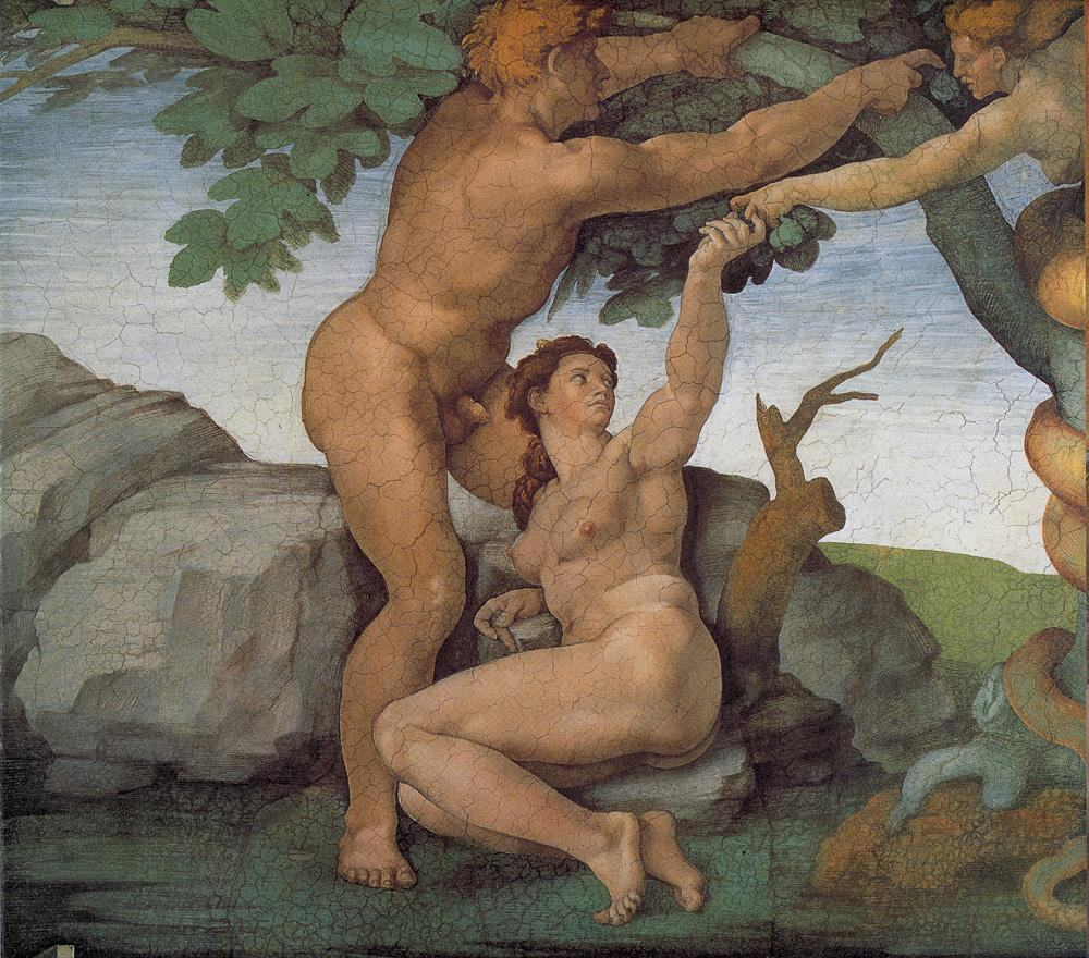 Michelangelo Buonarroti Genesis The Fall and Expulsion from Paradise The Original Sin