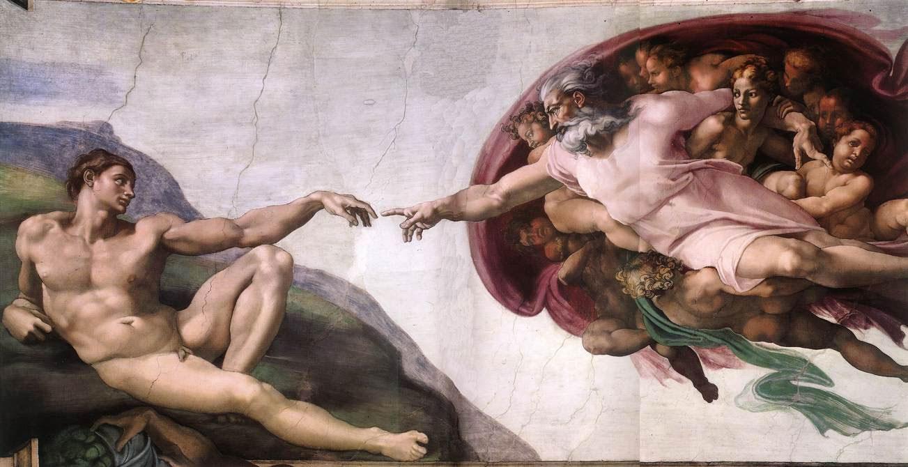 Michelangelo Buonarroti Creazione di Adamo